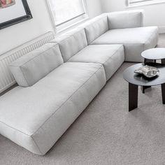 sofa against windows in formal lounge. Love modular for Casual lounge area. Living Room Sofa, Home Living Room, Living Room Designs, Living Room Decor, Sofa Seats, Lounge Sofa, Sofa Design, Hay Design, Modul Sofa