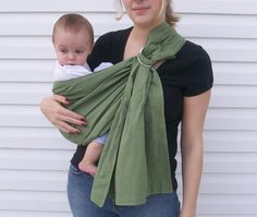 b7c80cd5c70 Items similar to Organic Cotton Baby Ring Sling- Any Color on Etsy