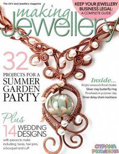 Making Jewellery - May 2015 Wrap Magazine, Magazine Beads, Magazine Crafts, Wire Jewelry Designs, Metal Jewelry, Wire Crafts, Jewelry Crafts, Jewelry Ideas, Necklace Ideas