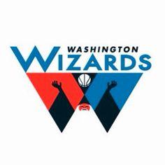 Wizards logo redesign by Michael Weinstein Baylor Basketball, Basketball Is Life, Hockey, Wizards Logo, All Nba Teams, Sports Team Logos, Washington Wizards, Geometric Logo, Sports Wallpapers