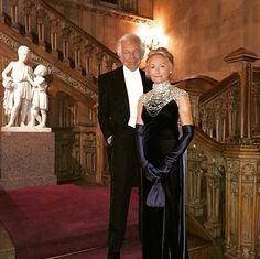 """My elegant parents enjoying their evening at Downton Abbey"" -- David Lauren"