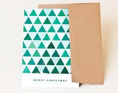 Christmas Card Greeting Card Holiday Card // TRIANGLE by PeraPress