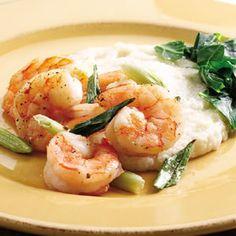 Shrimp & Cheddar Grits- Fitnessmagazine.com