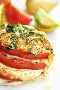 Millefeuille de tomates mozarella basilic - recette facile