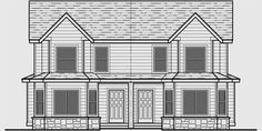 Duplex Floor Plans, Small House Plans, House Front, Tiny House, Canada, How To Plan, Drawing, Little House Plans, Tiny House Plans