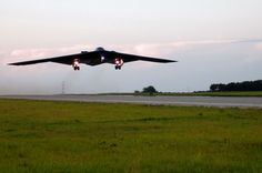 Whiteman Air Force Base, Missouri..home of the B-2 Stealth Bomber! Pretty awesome watching this fly over your head in your front yard :)