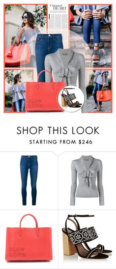 """""""Happy April :)"""" by mlucyw ❤ liked on Polyvore featuring Frame Denim, Alexander McQueen, Anya Hindmarch and Tabitha Simmons"""