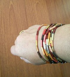 Great ways to make authentic Italian coffee and understand the Italian culture of espresso cappuccino and more! Recycled Jewelry, Recycled Art, Upcycled Crafts, Jewelry Making Tutorials, Cuff Bracelets, Creations, Leather, Projects, Bracelets