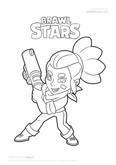 Shelly Brawl Stars Character coloring pages printable and coloring book to print for free. Find more coloring pages online for kids and adults of Shelly Brawl Stars Character coloring pages to print. Star Coloring Pages, Coloring Pages To Print, Printable Coloring Pages, Free Coloring, Coloring Books, Star Character, Drawing S, Fan Art, Stars