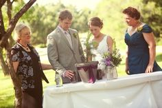 tree unity wedding ceremony | Lance and I added soil which came from the yard of our childhood homes ...