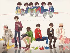 Find images and videos about osomatsu san, ichimatsu and karamatsu on We Heart It - the app to get lost in what you love. All Anime, Anime Guys, Manga Anime, Anime Siblings, Osomatsu San Doujinshi, Gekkan Shoujo Nozaki Kun, Ichimatsu, Boy Art, Anime Style