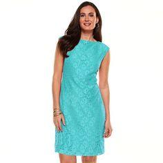 Chaps Lace Shift Dress - $70 - Kohl's