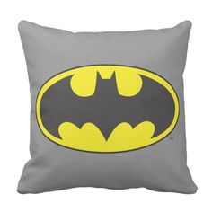 Batman Logo Throw Pillow - Oval Gradient - perfect for superhero fans - Imagine the presence of The Dark Knight in your own bedroom AFFILIATE LINK Batman Bedroom, Batman Nursery, Im Batman, Batman Comics, Batman Stuff, Batman Logo, Lego Batman, Dc Comics, Cool Beds For Kids