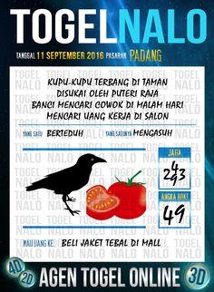 Prediksi Togel Online Live Draw 4D TogelNalo Padang 11 September 2016