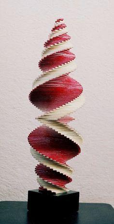 Constructivism.Spiral wood work, painted burgundy. https://www.facebook.com/jichici.mircea https://www.facebook.com/pages/Mircea-Jichici-painting/284399895040599 http://www.youtube.com/user/MrJichici