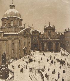 Richard Teschner (Austrian, 1879—1948) Little Square in winter, 1905-1907 Aquatint, paper, 390 x 317 mm