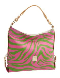 Green and pink metallic zebra print Dooney & Bourke bag, $240. Too bad this purse is from 2008  :(