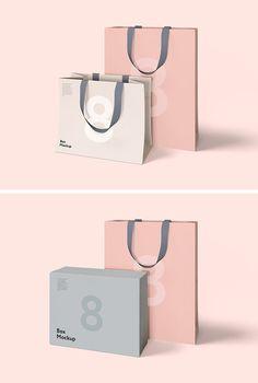 Luxury Box & Bag Mockups - download freebie by PixelBuddha