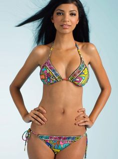 Maya Triangle Bikini      - TOP   Triangle top two piece bathing suit    - BOTTOM   Available in moderate  back coverage     - SIZE  8, 10, 12   - Price $160