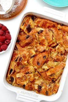 Chocolate Croissant Bread Pudding Recipe