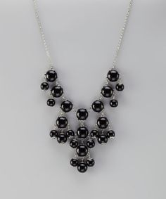 Take a look at this Black & Silver Mini Bubble Necklace by 2 Crystal Chicks on #zulily today!
