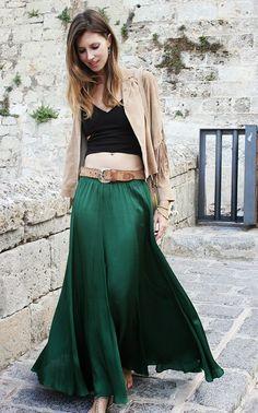 Ibiza Rocks Me by Ana Vide: Long green skirt