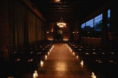 Candlelit ceremony space.  So dramatic, romantic, and gorgeous.  Photo:  Brookelyn Photography