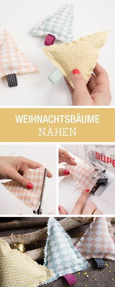 Weihnachtsbäume aus Stoff nähen / how to sew little christmas trees via DaWand… Sewing christmas trees from fabric / how to sew little christmas trees [. Little Christmas Trees, Christmas Holidays, Christmas Ornaments, Christmas Fabric, Sewing Hacks, Sewing Crafts, Sewing Projects, Sewing Tutorials, 242