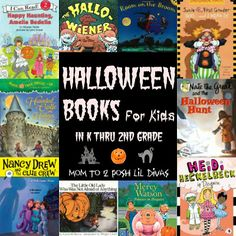 Halloween books for kids in K thru 2nd grade - incorporate the seasons/holidays int your classroom library and/or read aloud time