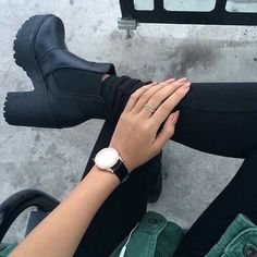 #black #watch #fashion #shoes