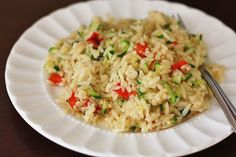 Zucchini and Roasted Pepper Orzo