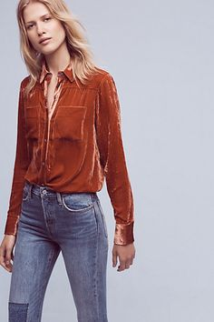 Velvet Buttondown #anthropologie