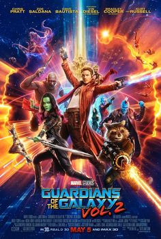 "GuardiansOfTheGalaxy @Guardians - ""Check out the new Marvel Studios' #GotGVol2 poster!"""