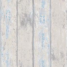 DecoMode vliesbehang Hout grijs blauw | Praxis