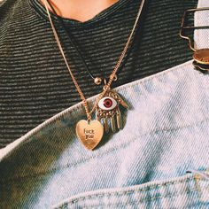 'Fuck You' Heart Necklace