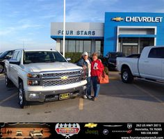 #HappyAnniversary to Bob and Marj Obey on your 2014 #Chevrolet #Silverado 1500 from Everyone at Four Stars Auto Ranch!
