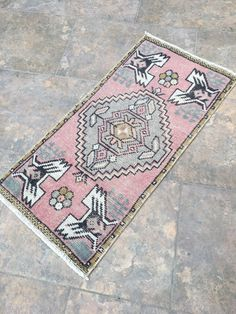 Excited to share this item from my #etsy shop: Pink Small Rug, Pink Door Mat Rug, Turkish Small Rug, Vintage Small Rug, Oushak Rug, Mat Rug, Bohemian Small Rug, Area Rug, 1'54''x3'18'' ft #housewares #housewarming #doormat #bohemianeclectic #wool #oriental #valentinesday #rectangle #livingroom Pink Door Mats, Vintage Bohemian, Bohemian Rug, Star Rug, Cleaning Items, Hallway Rug, Pink Rug, Tribal Rug, Small Rugs