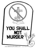 NInth Commandment Coloring Page