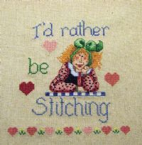 Cross stitch on Embroidery Machine!! Love it!