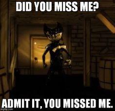 Hahaha! I miss the dream demon... Man... I need to watch Gravity Falls again. XP Hi Bendy!