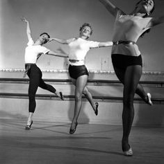 Not published in LIFE. Marilyn Monroe, 22, takes dance lessons, Hollywood, 1949.