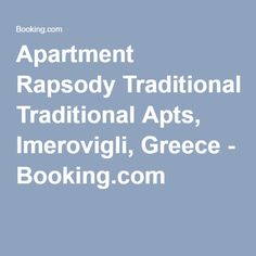 Apartment Rapsody Traditional Apts, Imerovigli, Greece - Booking.com