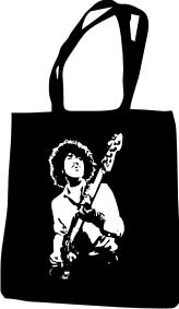 PHIL LYNOTT (THIN LIZZY) LADIES T SHIRT DESIGN TOTE BAG | eBay