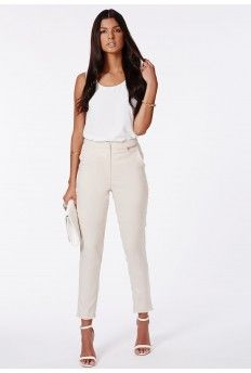 Ratka Stone High Waisted Cigarette Trousers
