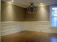 formal dining room chair rail shadow box wainscoting design ideas pictures remodel - Dining Room Two Tone Paint Ideas