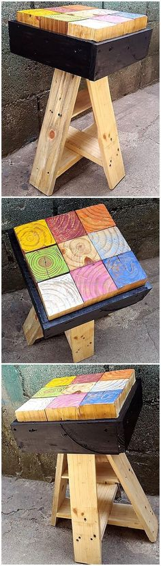 You will interestingly find out the best designing of this pallet artistic stool for your house area. This is stylish and modern looking plan that is also light in weight and unique in its styling. This upcycled wood pallet craft will add a taste of attractiveness to your place. #pallets #woodpallet #palletfurniture #palletproject #palletideas #recycle #recycledpallet #reclaimed #repurposed #reused #restore #upcycle #diy #palletart #pallet #recycling #upcycling #refurnish #recycled #woodwork