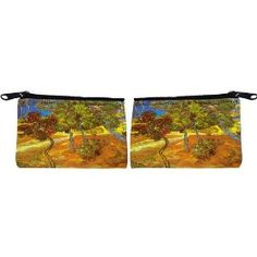 Rikki Knight Van Gogh Art Trees Scuba Foam Coin Purse Wallet - unisex - Affordable gift for all occassions