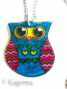 Owl Pendent by NauticalRabbit on Etsy, $6.99