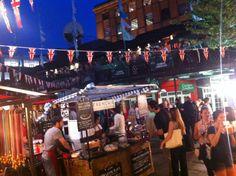 Camden Lock Food at night