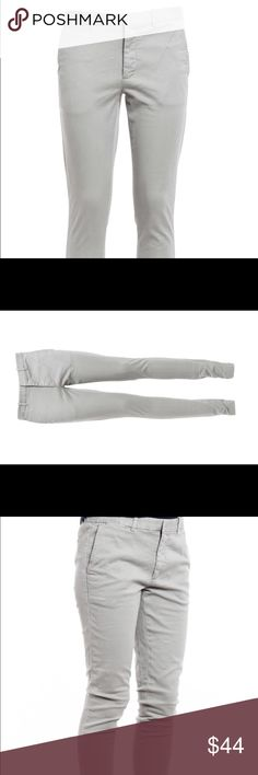 POLO RALPH LAUREN BROOKE SKINNY CHINO PANTS SIZE 2 RL POLO GRAY BROOKE COTTON SKINNY CHINO PANTS. COTTON SPANDEX BLEND FOR A PERFECT FIT WITH 2 FRONT SIDE & 2 BACK POCKETS AND ZIP FRONT FLY. RETAIL $145 IN GREAT CONDITION, NO RIPS OR STAINS. Polo by Ralph Lauren Pants